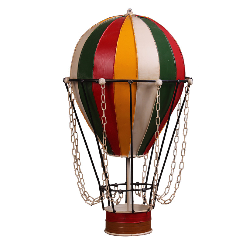 Nordic Vintage Iron Hot Air Balloon Decoration Craft Hanging Ornament Shop Show Window Shooting Props Home Decoration AccessorieNordic Vintage Iron Hot Air Balloon Decoration Craft Hanging Ornament Shop Show Window Shooting Props Home Decoration Accessorie