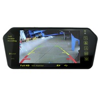 Full HD 7 Car TFT LCD Monitor Rear View Mirror With Built In Bluetooth Mp5