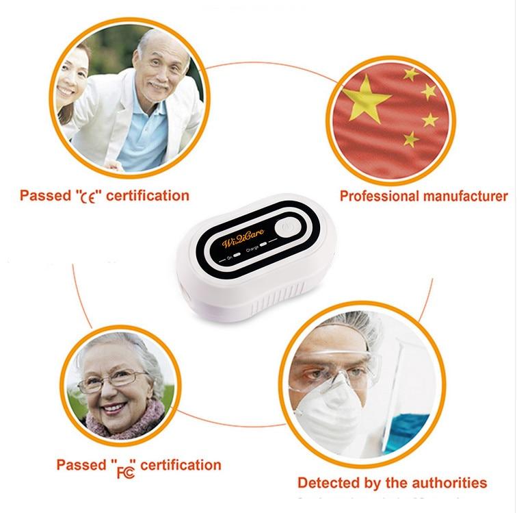 Батарея Вентилятор очиститель дезинфицирующее средство сипап apap Авто CPAP BPAP шланг маска Disinfector апноэ сна OSAHS OSAS анти храп 2000 мАч