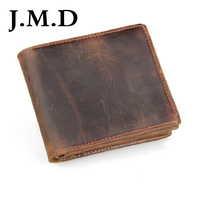 New Arrival Wallet 2016 Vintage Style Coffee Black Color 100 Geninue Leather Guarantee 8056B