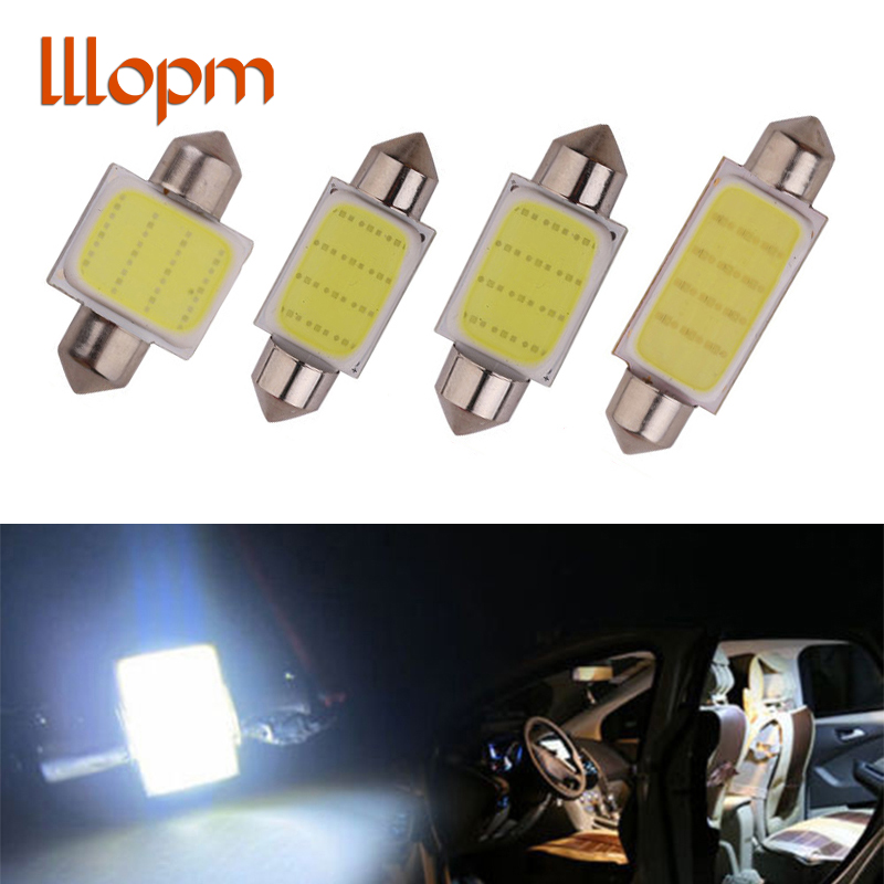 High Quality 31mm 36mm 39mm 42mm Super COB LED FESTOON Bulb 12 Chips C5W White Color Car Dome Light Auto Interior Lamp DC12V 1pcs 31mm 36mm 39mm 41mm white 3528 1210 car light 8smd 8 led c5w festoon dome lamp bulb dc 12v festoon dome car light bulb