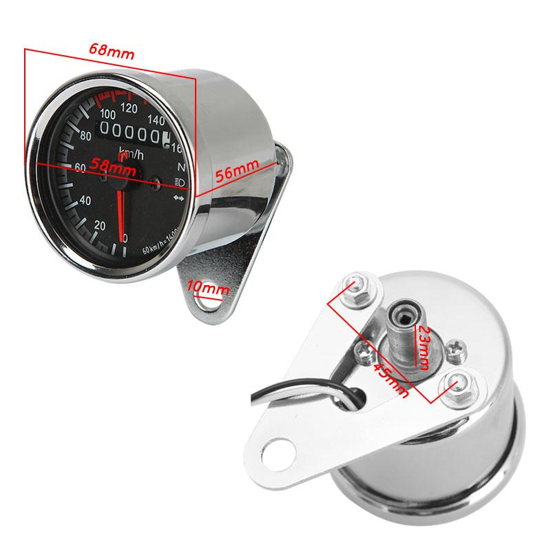 Universal Motorcycle Backlit Dual Tachometer Speedometer Odometer Speed Gauge W Light Turn Signal Indicator Kmh For Cafe Racerin Instruments From: Honda Shadow Vt700 Tachometer Wiring At Executivepassage.co