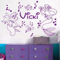 New Mermaid *** ARIEL *** Name Vinyl Wall Decal Sticker Art Decor Nursery Girls Room