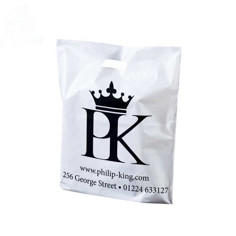 500pcs lot 30x40cm custom plastic shopping bags logo printed plastic packaging bag gift plastic bags for