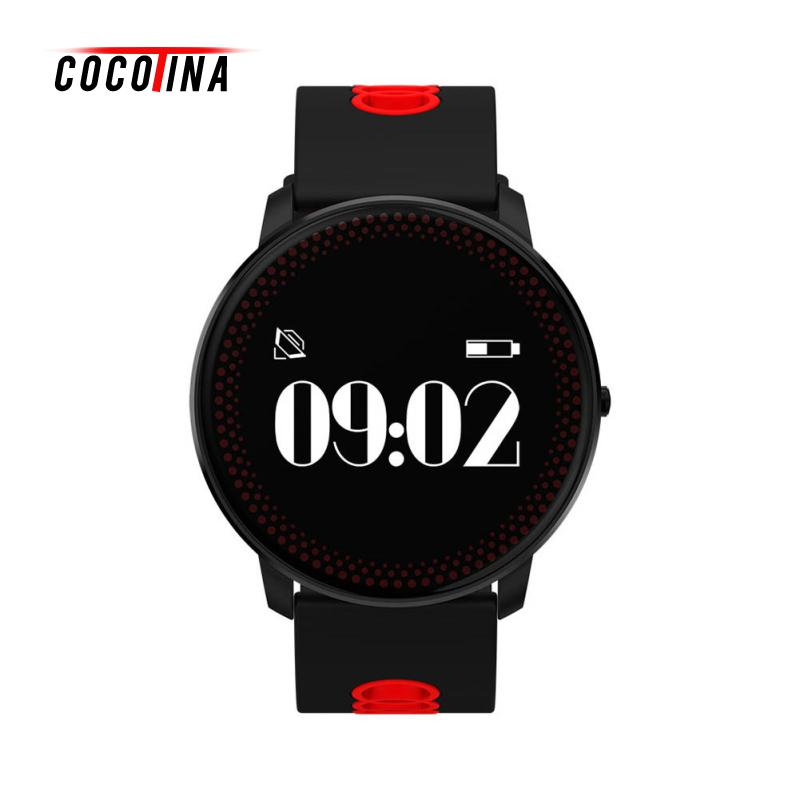 COCOTINA Wrist Bluetooth Blood Pressure Heart Rate Monitor Smart Watch Phone Mate For Android IOS ZNB3829 mu2 unisex bluetooth wrist watch health sleep monitor for android ios