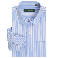 Best Quality Classic Striped Mens Shirt Dress Shirts Long Sleeve Plus Size