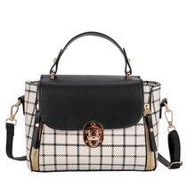 Женская сумка, сумка в клетку, переносная квадратная сумка, Диагональная Сумка на одно плечо, bolsas femininas de marca#4