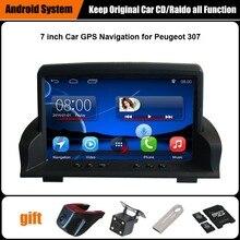 Actualizado Original Juego Reproductor multimedia Del Coche de Navegación GPS Del Coche para Peugeot 307 Ayuda WiFi Smartphone Espejo-link Bluetooth