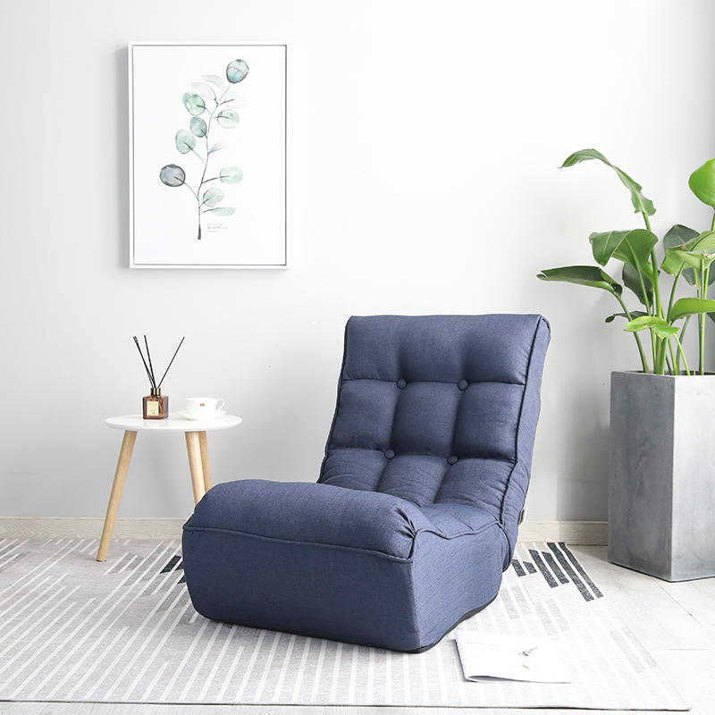 Deluxe Floor Foldable Living Room Chair Recliner 3 Color Home Furniture Adjustable Modern Upholstered Leisure Relax Chair modern floor leisure chair brown color portable floor foldable recliner lounge upholstered modern fashion leisure sofa chair