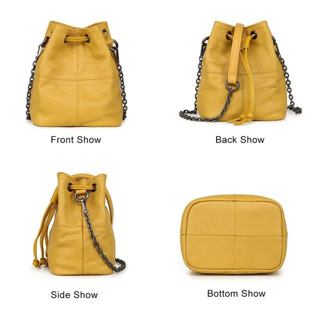 Newest Fashion Bucket Bag Summer Women Genuine Leather Shoulder Bag Lady Soft Real Leather Cross Bag Simple Messenger Bag E 2