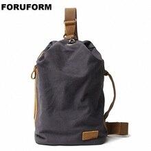 Новое поступление, холщовая Мужская нагрудная сумка через плечо, повседневный дорожный рюкзак; нагрудная сумка, маленькие сумки на ремне, мужская сумка на плечо, LI-2267