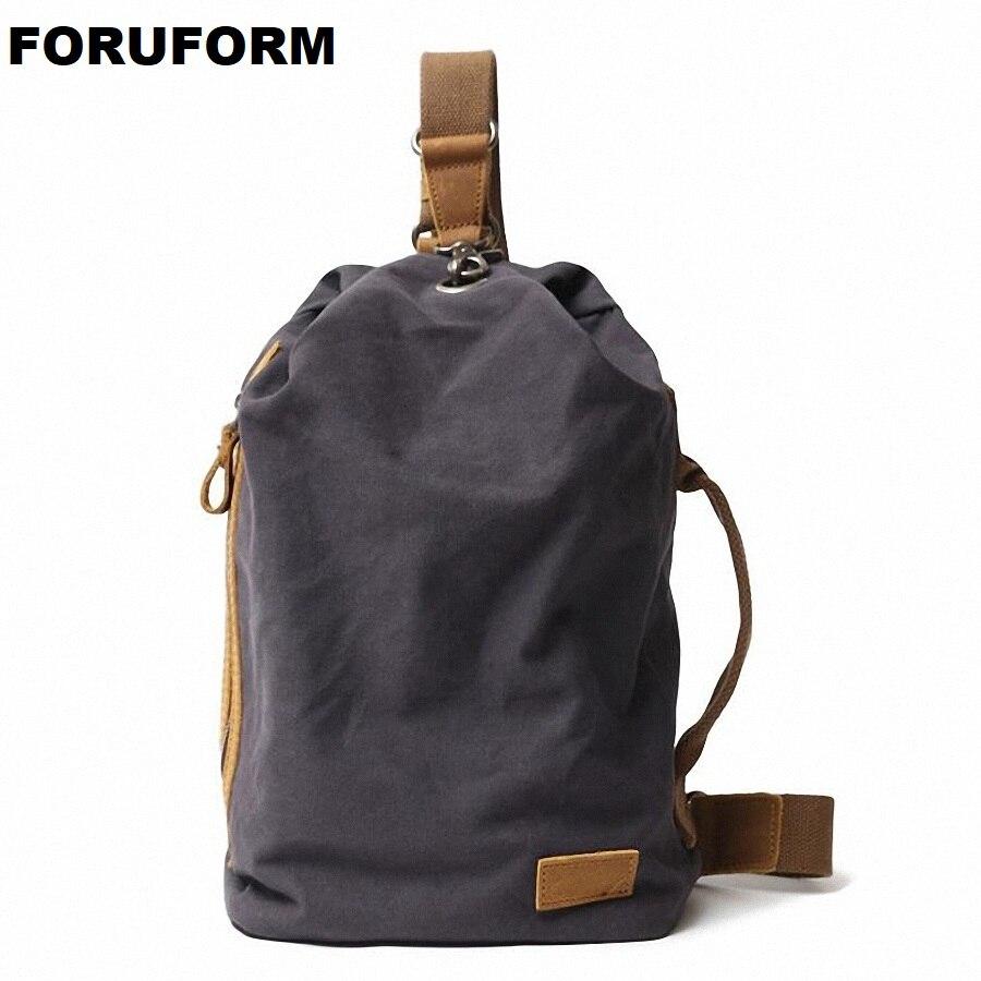 Nouveauté toile hommes poitrine Pack sac à bandoulière sac à dos voyage décontracté sac à bandoulière petit sac à bandoulière hommes épaule sac à dos LI-2267