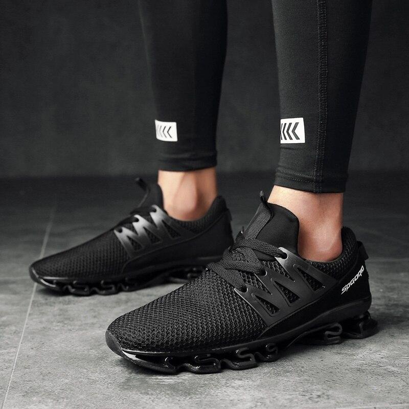 Casuais Respirável Caminhada Tênis Ar Size Sapatos 39 47 Sycatree Flyknit grey Livre Ao Esportes Plus Acampamento Lâmina Homens De Black Dos red w58q0v
