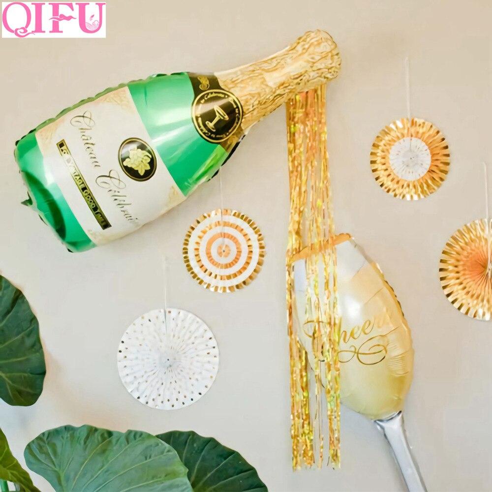 QIFU Wine Balloons Happy Birthday Balloon Champagne Стічні - Святкові та вечірні предмети