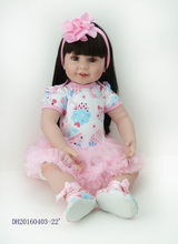 22Inch New Born Baby Dolls Bebe Reborn Menina Children Best Gift Silicone Reborn Baby Dolls for
