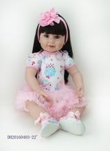 22Inch New Born Baby Dolls Bebe Reborn Menina Children Best Gift Silicone Reborn Baby Dolls for Kids Handmade Princess Bonecas