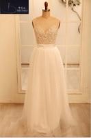 Romantic SummerIvory Lace Beach Wedding Dress Sexy Illusion Tulle Wedding Gowns Cheap Bride Dress