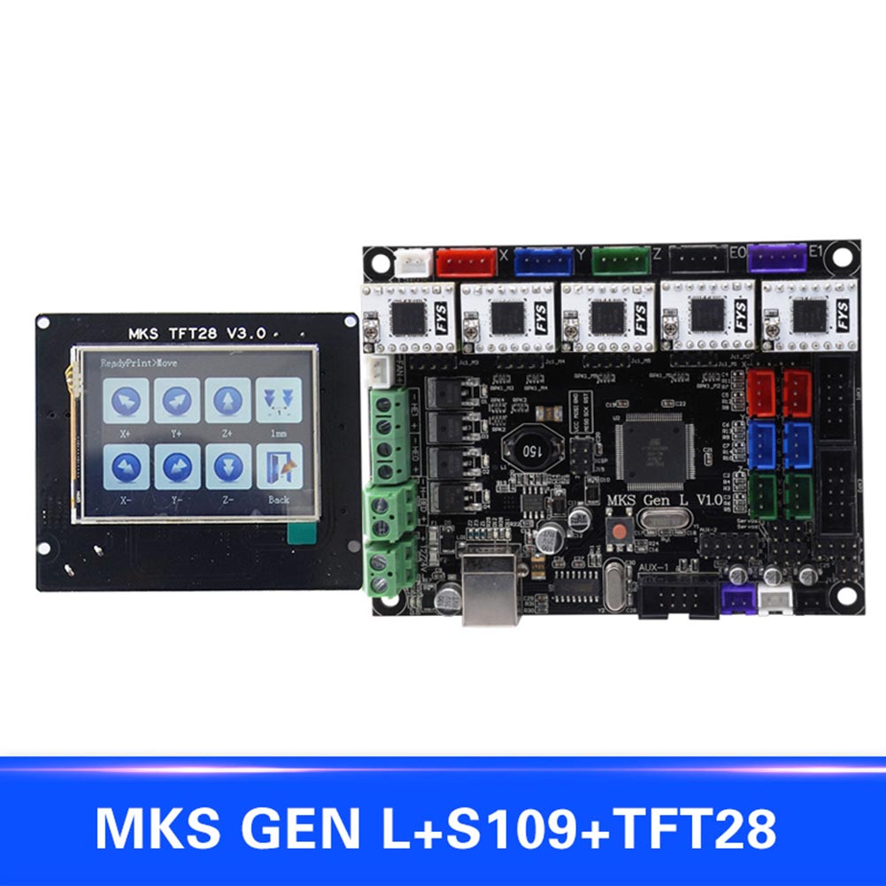For MKS GEN L Compatible with TFT28 LCD Intelligent Display Support S109 Motor Driver 3D Print Kits SL@88 mks gen v1 4 motherboard mks controller board with tft28 v3 0 display screen usb cable set sl 88