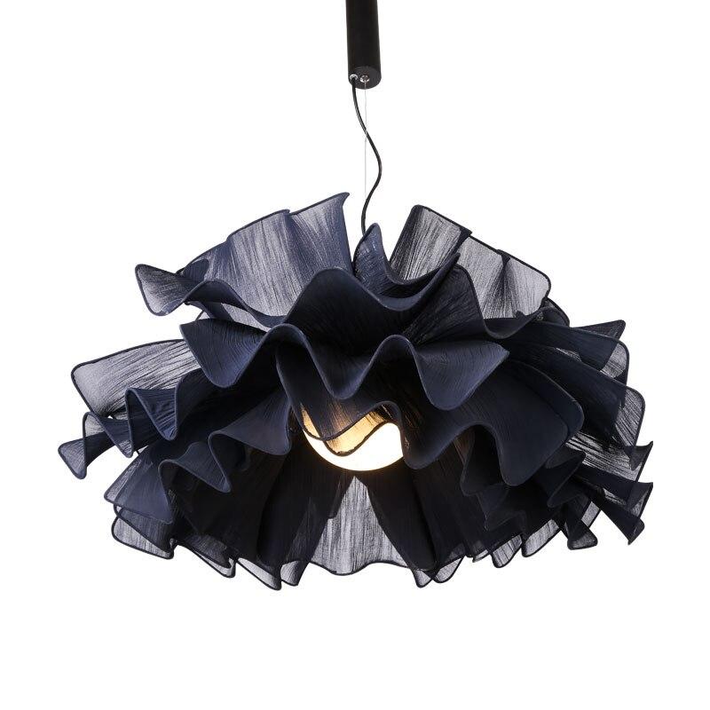 Nordic style lamp Danish pendant lamp warm romantic fabric lamp creative white pendant lamp