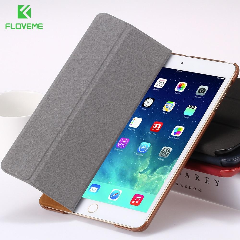 FLOVEME for iPad 2 3 4 Smart Case PU Leather Cover for apple ipad2 ipad3 ipad 4 Covers Stand Folded Sleep Awake Tablets Bags