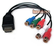 HDMI 19 pins To 5 RCA Video Audio AV Adapter Cable Converter For HDTV set-top box