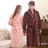 Winter Elegant Womens Thickening Nightgowns Females Pockets Warm Sleepwear Women Trendy Sashes Sleepshirts Female Flannel Ladies