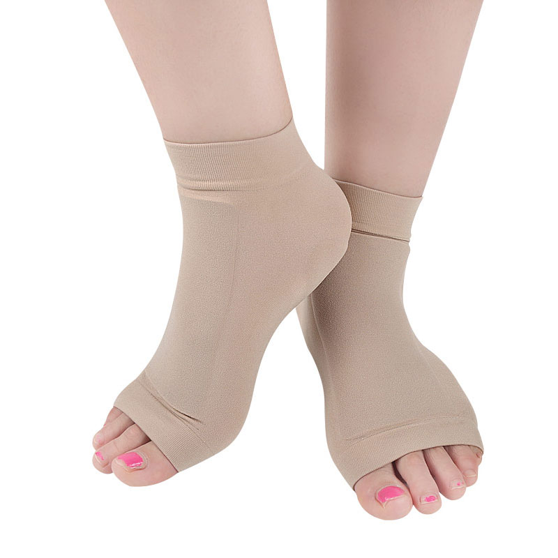 1Pair Achilles Tendon Heel Protector Compression Padded Sleeve Socks for Bursitis, Tendonitis, Tenderness