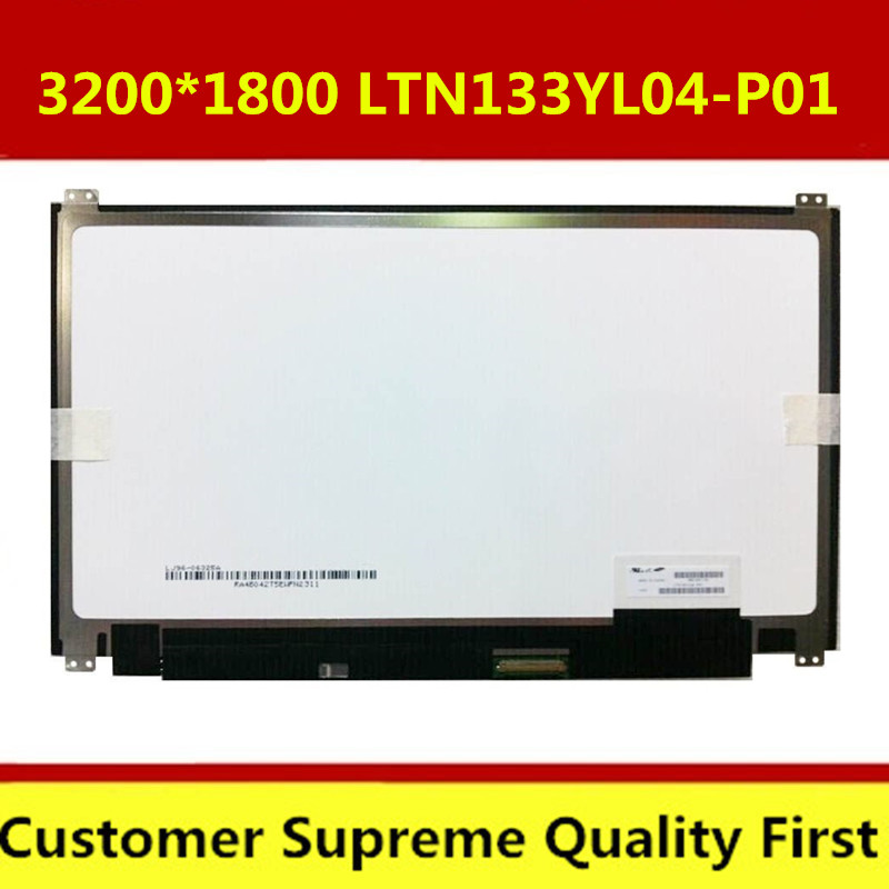 Laptop LCD LED Screen LTN133YL04-P01 LTN133YL06-H01 3K IPS FOR ASUS ZENBOOK 3200*1800 free shipping