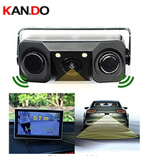 HD Video Camera Rear View Camera Backup Reverse Sensor Camera with 2 Parking Sensors radar and Bi Bi Alarm function for truck