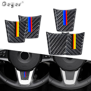 Ceyes Auto Steering Wheel Carbon Fiber Car Styling Accessories Case For Bmw M Stripe Z4 E89 Interior Decorations Emblem Stickers image