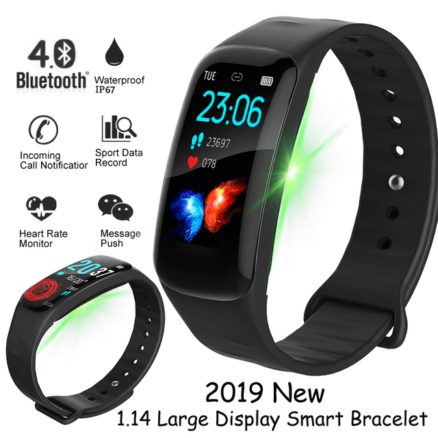 BANGWEI New Smart Watch 1.14 large display screen Heart rate Smart band fitness tracker wristband Sport watch for ios Android