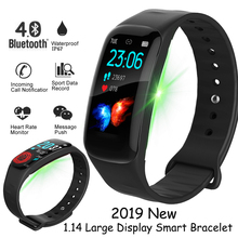 LIGE 2019 New Smart Watch 1.14 large display screen Heart rate band fitness tracker Sport bracelet for ios Android