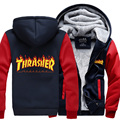 2016 new winter thicken Thrasher sweatshirt men Thrasher hoodies fashion coat casual sportswear trasher hoodie men jacket M-4XL
