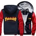 2016 new winter thicken Thrasher sweatshirt men Thrasher hoodies fashion coat casual sportswear trasher hoodie men jacket M-4XL
