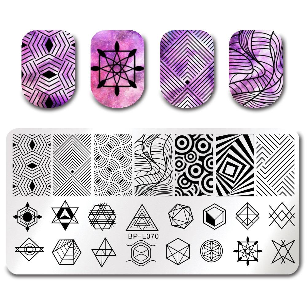 Geometric Reverse Stamping Nail Art Born Pretty Review: BORN PRETTY Geometry Figure Nail Art Stamp Stamping Plates