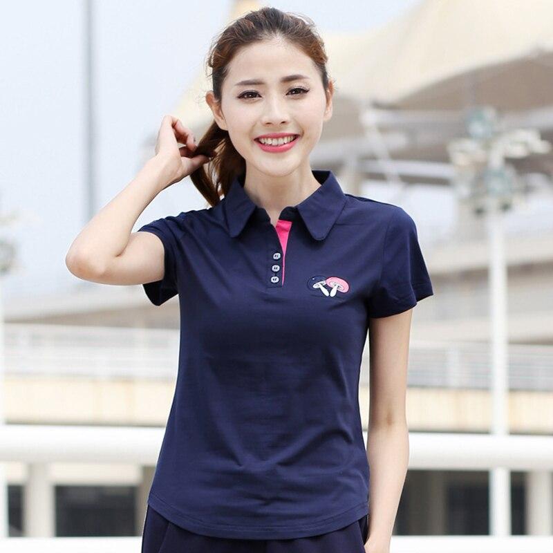 2017 Sommer Neue Kurzarm Polo Shirt Weibliche Freizeit Mantel Tum-down-kragen Kragen Polo-shirt Damen Big Size Plus Größe Shirt Großhandel ZuverläSsige Leistung