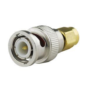 Image 2 - 2 uds cable coaxial rf adaptador SMA macho a BNC macho