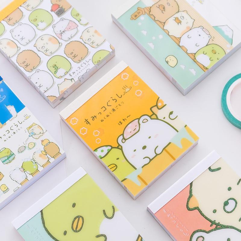 Sumikko Gurashi Cartoon DIY Soft Cover Mini Notebook Diary Pocket Notepad Promotional Gift Stationery