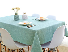 YO HOOM Kitchen Cotton Tablecloth Tablecover Coffee Table Cloth Table Cover Simple Color Optional цена