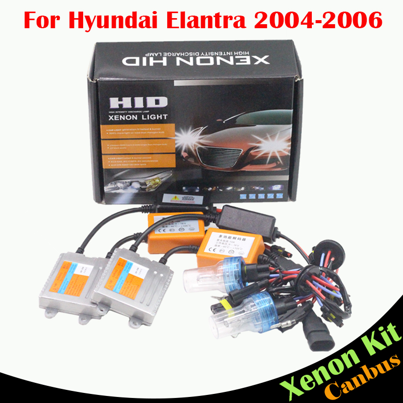 ФОТО Cawanerl 55W H7 No Error Ballast Bulb HID Xenon Kit AC 3000K-8000K Car Light Headlight Low Beam For Hyundai Elantra 2004-2006