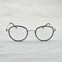 Hand Made Vintage Oval optical glasses frame eyeglasses Denmark Eyewear Brand myopia reading men and women Original Case