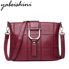 YABEISHINI Designer Leather Woman Bag 2018 Sell Well Women Messenger Bags Brand Luxury Shoulder Crossbody Casual Tote
