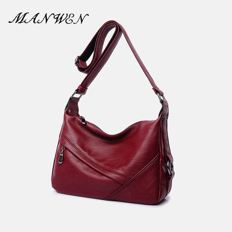 PU Leather Women Messenger Bag Solid Satchels Wine Red Single Shoulder Bag 2017 New Fashion Women Vintage Crossbody Bag free shipping new fashion brand women s single shoulder bag lady messenger bag litchi pattern solid color 100