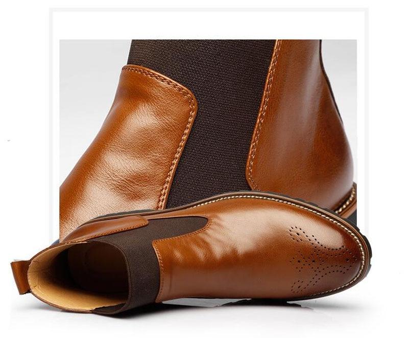 YIGER Men's Chelsea Boots 8