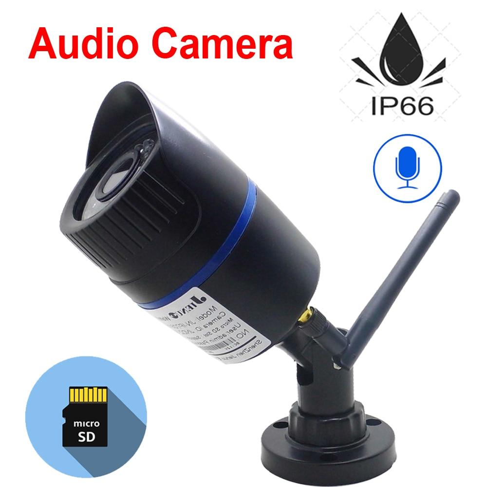 JIENUO Wifi IP Camera 1080P 960P 720P Wireless P2P CCTV Bullet Camera TF Card Slot Surveillance Security Video Audio cameras