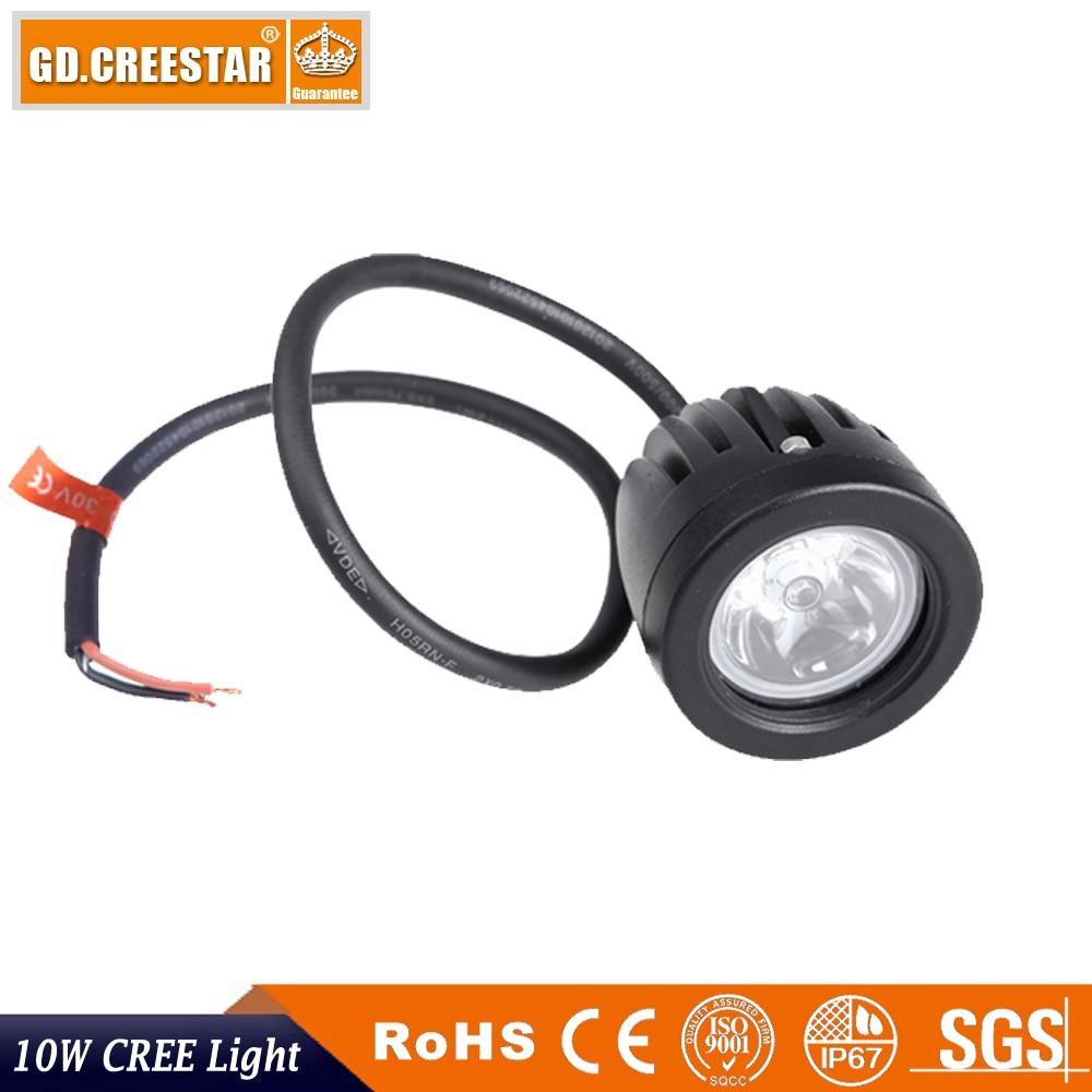 10 W Spot Sel LED İş Işık 2 Inç 12 V Araba Oto SUV ATV 4WD 4X4 - Araba Farları - Fotoğraf 4