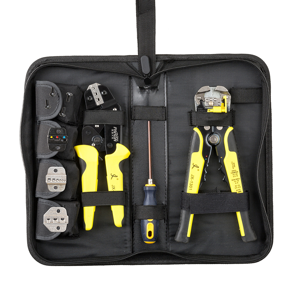 4 In 1 Wire Crimper Tools Kit Professional Multi Tool Engineering Ratchet Terminal Crimping Plier Wire