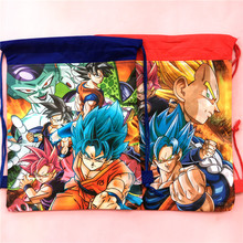 20PCS 6 Designs Dragon Ball Non Woven Fabric Drawstring Gift Bag Backpack For Kids Birthday Party Decoration Schoolbag