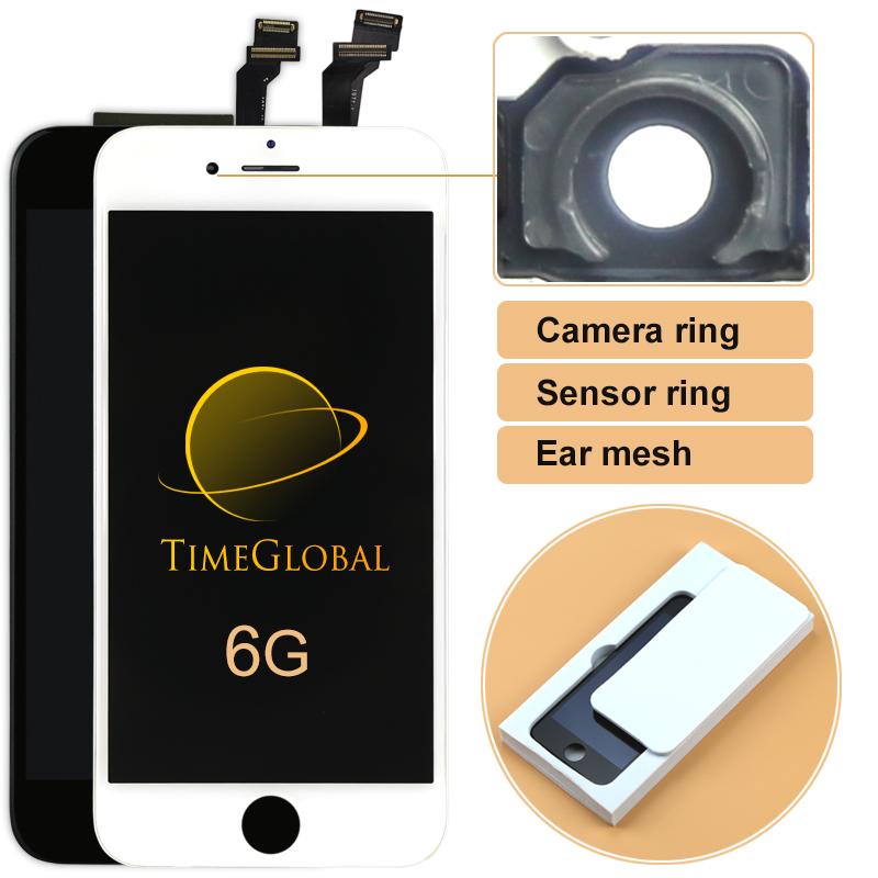 Prix pour 10 pcs 4.7 alibaba chine pour iphone 6 écran lcd avec écran tactile digitizer assemblée + cadre + caméra titulaire