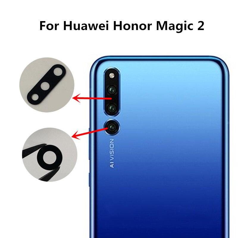 100% Verdadero Nueva Cubierta Trasera De Lente De Cristal Para Huawei Honor Magic 2 Con Reemplazo De Cinta Adhesiva + Número De Seguimiento Precio Bajo
